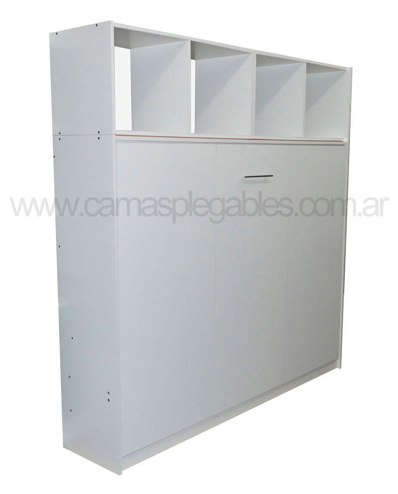 Mueble cama plegable rebatible para colchón 2 plazas 1,40 x 1,90