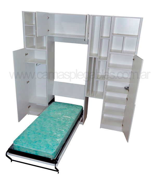 Camas plegables rebatibles para espacios reducidos - Hacer cama plegable pared ...