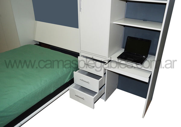 Camas plegables rebatibles para espacios reducidos - Cama plegable escritorio ...