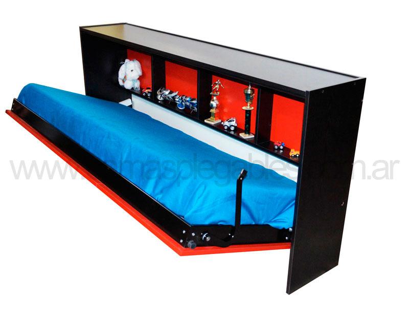 Cama Repisa Horizontal Rebatible 1 Plaza E