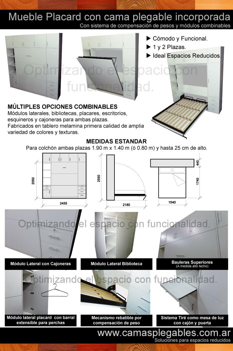 Fotos de camas rebatibles for Precios de futones de 2 plazas
