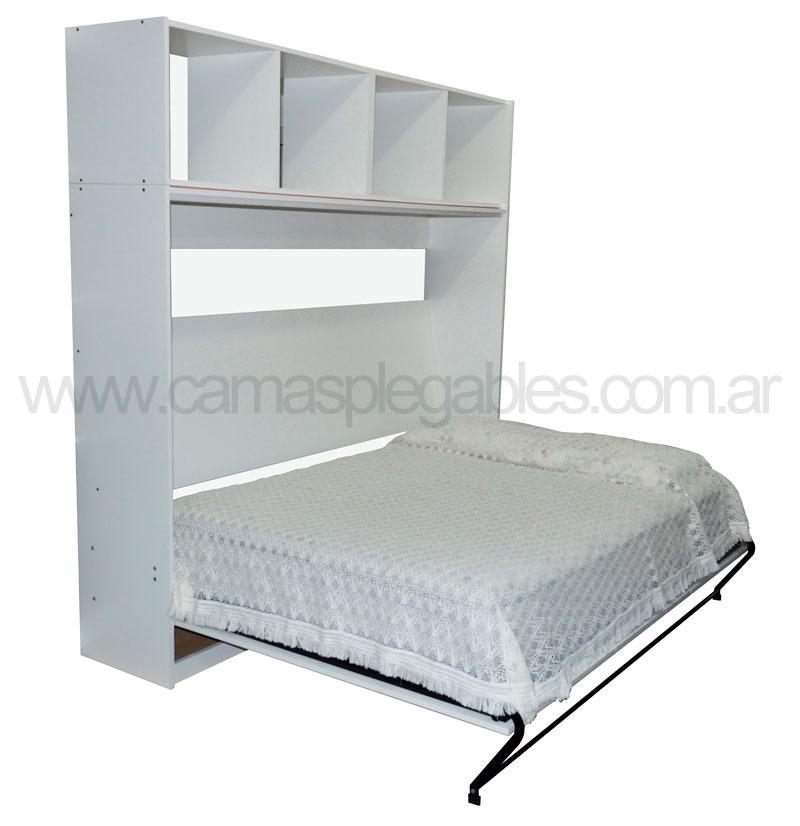 Mueble Cama Plegable Rebatible Para Colchón 2 Plazas 1 40 X 90 Horizontal